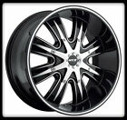 "20"" MKW M82 WHEELS BLACK MACHINED RIMS & COOPER 33X12.50X20 DISCOVERER STT TIRES"