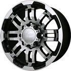 18x8.5 Black Vision Warrior  5x4.5 +18 Wheels Nitto Terra Grappler 255/55R18