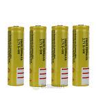 New 4pcs 18650 3.7V 5000mAH Lithium Rechargeable Battery Yellow Li-ion Battery