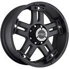 18x9 Matte Black V-Tec Warlord  5x5 +0 Wheels Nitto Terra Grappler 285/60/18