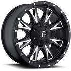 20x10 Black Fuel Throttle Throttle 5x5 & 5x5.5 -24 Wheels Couragia MT 33X12.5X20