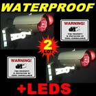 FAKE WIRELESS HOME SECURITY SPY SYSTEM NIGHTVISION CAMERAS+WARNING STICKERS LOT