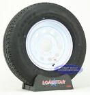 """(2)- Trailer Tires ST 225/75R15 LoadStar Radial White Mod 15"""" 6Bolt Load Range D"""