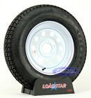 "(4)-Trailer Tires ST 205/75D15 15"" Bias F78-15 5 on 4 1/2 Bolt Circle White Mod"