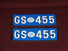 73 74 BUICK GS 455 VALVE COVER DECALS LARGE NEW 1973 1974 BLUE WHITE SILVER