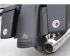 Alloy Art Chrome Shooter Motorcycle LED Taillight Harley Saddlebag Touring Kit