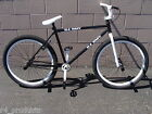 """2016 R4 BLACK & WHITE 26"""" BMX FREESTYLE OLD SCHOOL CRUISER BICYCLE WITH PEGS"""