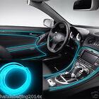 6.5ft Car Panel Neon Lamp Strip Decorative Atmosphere Ice Blue LED Cold EL Light