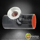 """Black SSQV SQV Style Turbo Blow Off Valve 2.5"""" Reincforced Silicone Pipe Adapter"""
