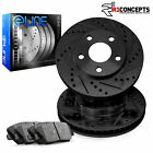 [FRONT] Black Edition Drilled Slotted Brake Rotors & Semi-Met Pads FBC.46057.03
