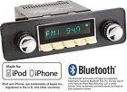 RetroSound Model Two Radio iPhone Bluetooth Aux In USB 1 DIN M2I-402-06-96