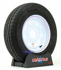 Kenda Loadstar Radial Trailer Tire ST 175/80R13 on White Wheel 5 Lug LRC
