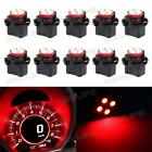 10Pcs 16mm 5/8 Sockets Tachometer Instrument Panel Light Bulb 2496279 Red