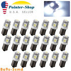 20Pcs Cool White BA9S T10 5SMD Interior Turn Signal Corner LED Light Bulbs T4W