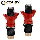 Colby Emergency Valve Stem INSTALLS from OUTSIDE the wheel - OFF ROAD 2 pack RED