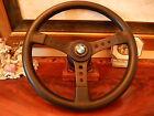 BMW 1600 1800 2002 Baur TISA Vintage Steering Wheel Leather New NOS FLAWLESS