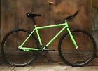 """26"""" Green  Fixed Gear Bike Carbon Steel Outdoor Sports Speed Change Urban Bike"""