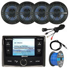 "Bluetooth Stereo, 4x 6.5"" Speakers, Antenna, USB Aux Interface, 50 FT 16-G Wire"