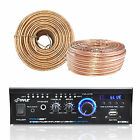 Pyle Amplifier Receiver w/ Bluetooth USB SD AUX CD LED, Enrock 18G 100 Ft Wire