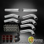 """Universal DIY Intercooler Piping Kit  3"""" Chrome Pipes + Black Couplers + Clamps"""
