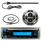 Kenwood Bluetooth Marine AUX USB Radio, KCARC35MR Wired Remote, Marine Antenna