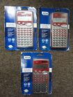 Lot of 3 x New Ativa AT-36 2-Line Display Scientific Dual Power Calculator - Red