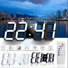Large Modern Design Digital Led Skeleton Wall Clock Timer 24/12 Hour Display 3D