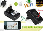 FHD 1080P Wifi IP Spy Charger Camera Adapter Security DVR Hidden Video Nanny Cam