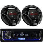 """KMM-BT322U Digital Car Bluetooth Stereo USB/AUX/iPod Player+2x JVC 6.5"""" Speakers"""