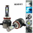 Dual Color H11 H9 H8 Light Headlight Kit Hi/Lo LED White & Ice Blue Fog Bulb