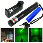 532nm Green Laser Pointer Pen Lazer Beam 5mw + 18650 Battery + Charger From USA