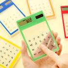 Ultra Slim Mini Transparent LCD Solar Powered Calculator Touch Screen 8 Digit