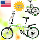 "7 Speed Bicycle Folding Bike Foldable Storage Shimano School Sports 20"" Popular"