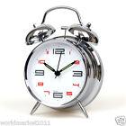 Modern Simplicity D11cm Stoving Varnish Silent Mechanic Alarm Clock Silver