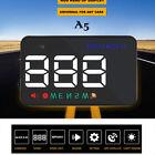 "Universal A5 3.5"" Car HUD Head Up Display Speed Projector Overspeed Warning Kit"