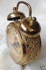 European Retro Golden Carving D7cm Automatic Machinery Silent Alarm Clock