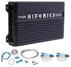 Hifonics TMA-400.4 400 Watt 4-Channel Marine Boat ATV/UTV/RZR Amplifier+Amp Kit