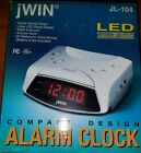 jWin JL-104 Compact Design Alarm Clock LED Display Brand New Never Used Great
