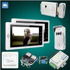 """HOMSECUR 7"""" Hands-free Video Door Phone Intercom System+Touch Button Monitor"""
