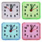Portable Small Square Bed Compact Travel Quartz Beep Mini Alarm Clock Bedroom US