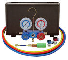 "Mastercool R134A A/C Manifold Gauge Set 60"" Hoses MANUAL Couplers 89661-UV"