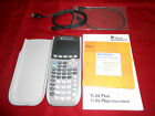 Texas Instruments TI-84 Plus Silver Edition Graphing Calculator w/ Book & Cables