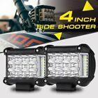 "2X4"" 95W Side Shooter Tri-Row CREE LED Pods Light Bar Flood Spot Offroad ATV UTV"