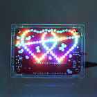 Colorful LED Double Heart-shaped Light With Music Electronic DIY Kit With Shell