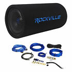 "8"" Powered Subwoofer Sub Bass Tube+MP3 Input+Amp Kit For Jeep Wrangler 87-06"