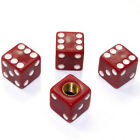 4 Burgundy Red Tire/Wheel Air Stem Valve Caps Covers for car-truck-hot rod