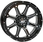 STI HD4 ATV UTV Wheel Machined Black 14x7 4/110 5+2