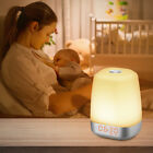Dimmable RGB LED Wake Up Light Sunrise Natural Light Alarm Clock Touch Control