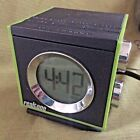 REALTONE -GREEN RT205 LCD CLOCK AM/FM RADIO - SNOOZE Line In/MP3 INPUT JACK -
