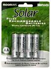 Coleman Cable 97125 4 Count AA Rechargeable NiCd Batteries For Solar Powered Uni